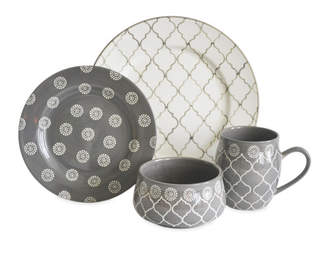 Baum Moroccan 16 Piece Dinnerware Set, Service for 4