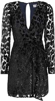 Self-Portrait Self Portrait Metallic Leopard Mini Dress