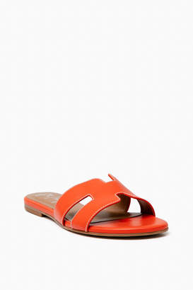 French Sole Orange Leather Alibi Sandals