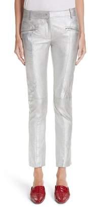Moto Sies Marjan Panel Metallic Leather Pants