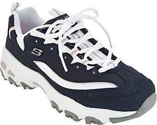 Skechers D'Lites Lace-up Sneakers - LookingGlass