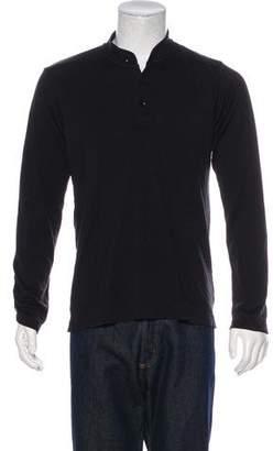 Y-3 Animal Print Trimmed Henley T-Shirt