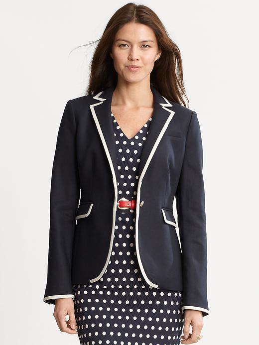 Color-tipped blazer
