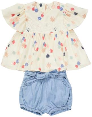 Jessica Simpson Floral Top & Short