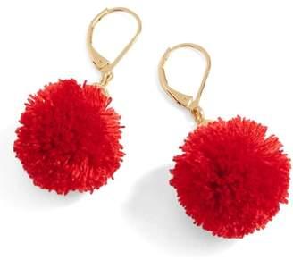 J.Crew Pompom Drop Earrings