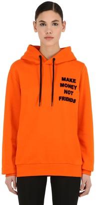 Make Money Not Friends LOGO PRINT COTTON SWEATSHIRT HOODIE