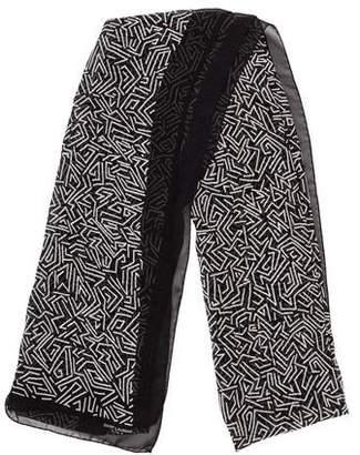 Saint Laurent Printed Silk Scarf