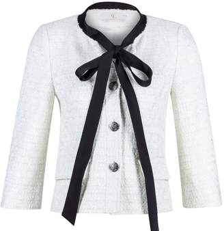 Charlotte London - Sweetheart Jacket With Bow Collar