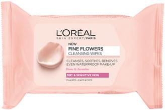 L'Oreal Paris Fine Flowers Sensitive Skin Cleansing Face Wipes x 25