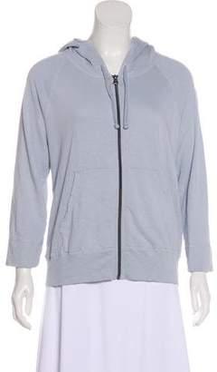 James Perse Hooded Zip-Up Sweatshirt