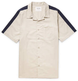 Noon Goons Passin' Me By Camp-Collar Two-Tone Cotton-Twill Shirt