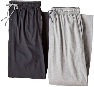 Hanes Big & Tall 2-pack Solid Knit Lounge Pants
