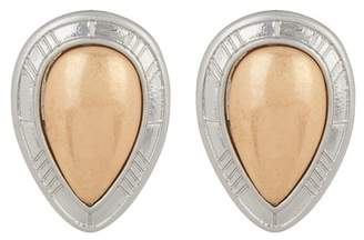 Melrose and Market Statement Tear Drop Two-Tone Stud Earrings