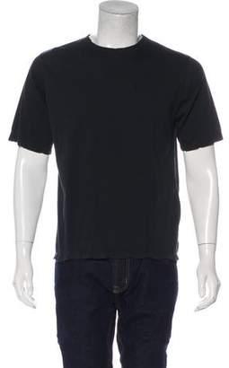 Saint Laurent 2016 Distressed Embroidered Logo T-Shirt