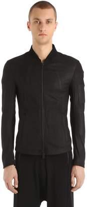 Isabel Benenato Slim Zip-Up Soft Nappa Leather Jacket
