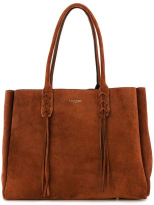 Lanvin fringed tote $1,495 thestylecure.com
