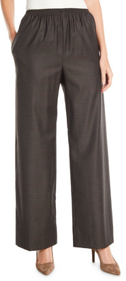 eskandar Wide-Leg Wool-Cashmere Pull-On Trousers