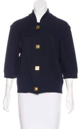 Chloé Short Sleeve Knit Cardigan