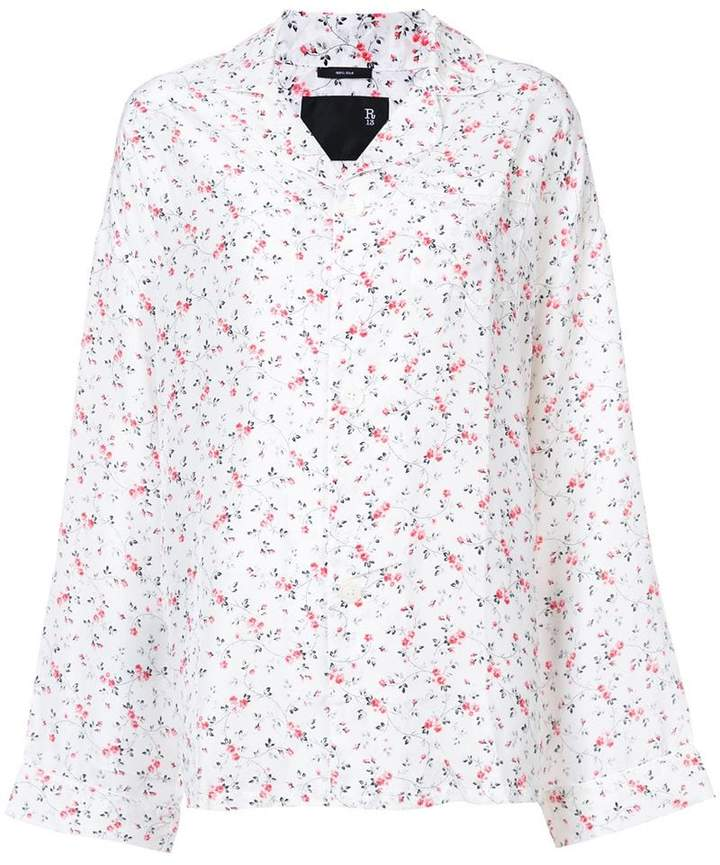 R 13 floral print pyjama top