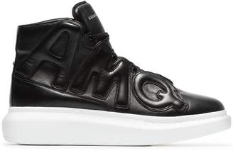 Alexander McQueen black High-Top Oversized leather sneakers