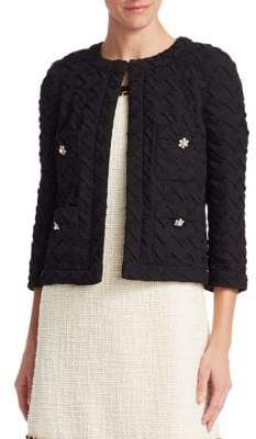 Edward Achour Textured Cropped Jacket