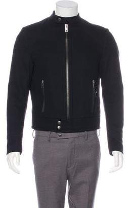 Gucci Wool Zip-Up Cafe Racer Jacket