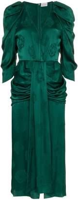 Magda Butrym downey silk jacquard dress