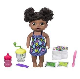 Baby Alive Sweet Spoonfuls Baby Doll Girl - Dark Brown Hair Dark Skin Tone