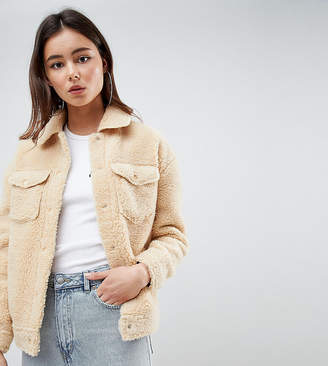 Missguided Tall teddy jacket