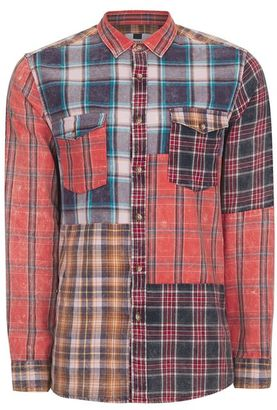 Patchwork Checked Shirt $60 thestylecure.com