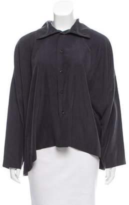 eskandar Silk Long Sleeve Button-Up