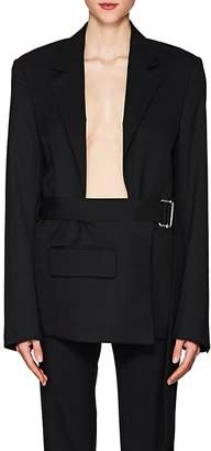 Helmut Lang Women's Open-Chest Wool Belted Blazer
