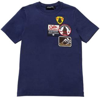 DSQUARED2 Patches Cotton Jersey T-Shirt