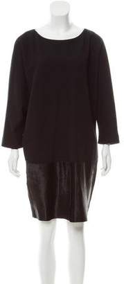 Agnona Cashmere & Ponyhair Dress