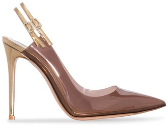 Gianvito Rossi double slingback 105mm pumps