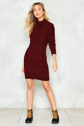 Nasty Gal Keep Me Warm Sweater Dress