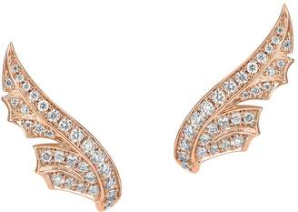 Stephen Webster Rose Gold and Pavé Diamond Magnipheasant Stud Earrings