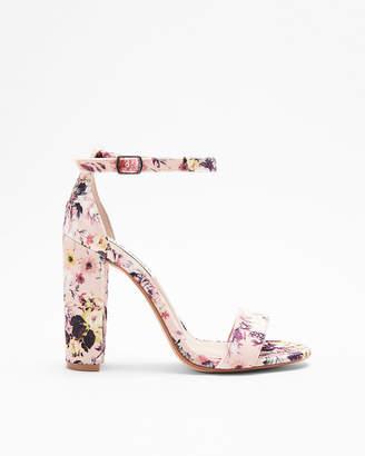 Express Steve Madden Floral Carrson Heeled Sandals