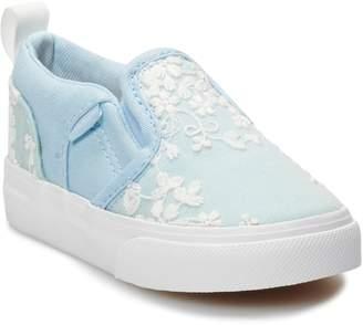 4275eb2654 Vans Asher V Toddler Girls  Floral Skate Shoes