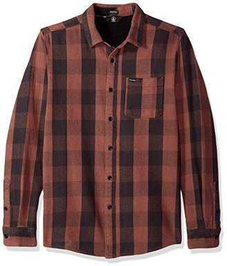 Volcom Men's Invert Check Long Sleeve Flannel Shirt
