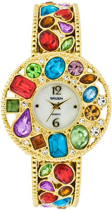 Elgin Multicolor Stone Bangle Watch