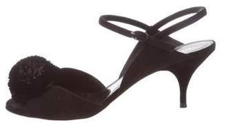 Nina Ricci Pom-Pom Ankle Strap Sandals w/ Tags