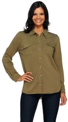 Factory Quacker DreamJeannes Be Jeweled Button Front Shirt