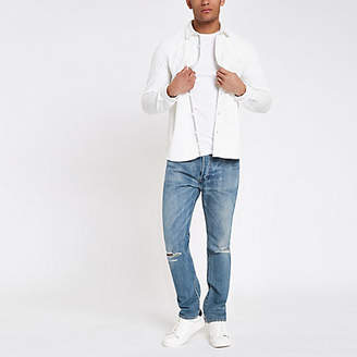 River Island Levi's 501 light blue ripped skinny jeans