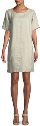 Eileen Fisher Twinkle Organic Linen Shift Dress