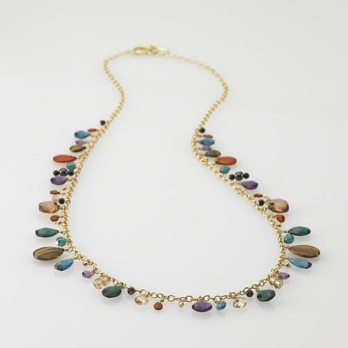 Ralph Lauren Multi-Beaded Long Necklace