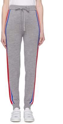 Etre Cecile Stripe outseam Merino wool knit track pants