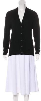 Balenciaga Virgin Wool V-Neck Cardigan