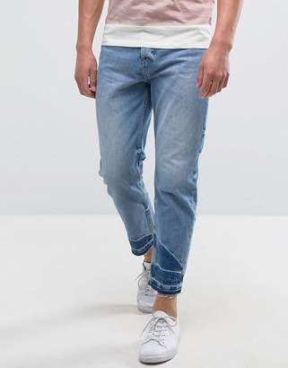 Kiomi Jeans with Raw Hem in Relaxed Fit