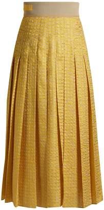 Fendi Fil-coupé pleated midi skirt